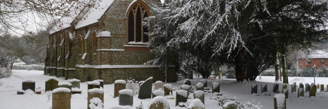 Church services in the Candover Valley in January and February